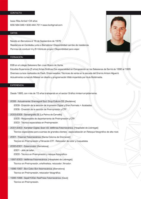 Modelo De Un Curriculum Vitae De Trabajo Curriculum Vitae 9 Jpg