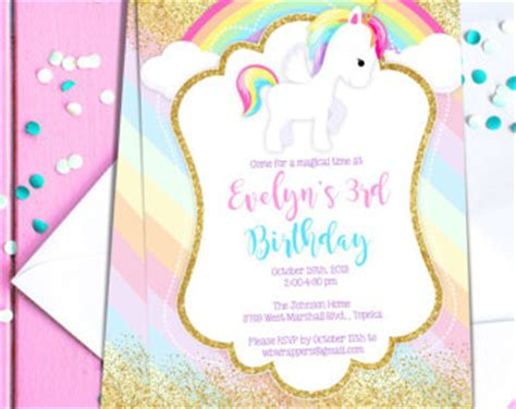 Unicorn Invitation Template Free Songwol 07aa15403f96 Unicorn Invitations Free Template