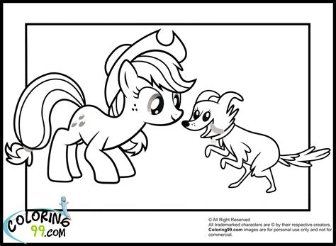 Applejack Pony Coloring Pages My Little Pony Applejack Coloring Pages Team Colors by Applejack Pony Coloring Pages