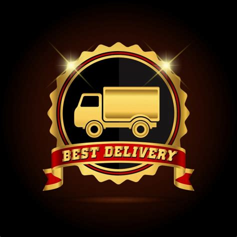 Best Delivery best delivery logo background vector free