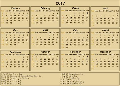 printable 2017 calendar printable for free download