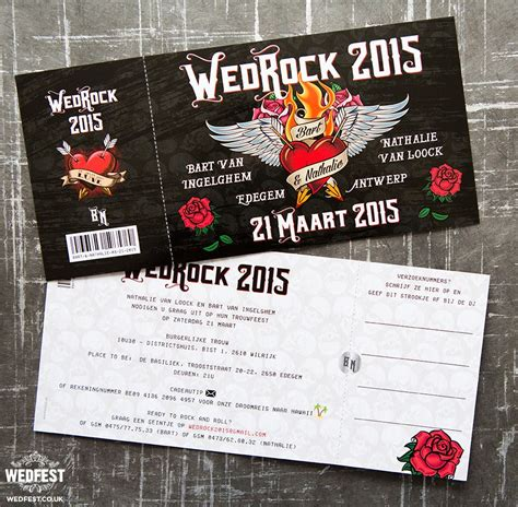 rock wedding invitations wedrock rock and roll wedding invites http www wedfest