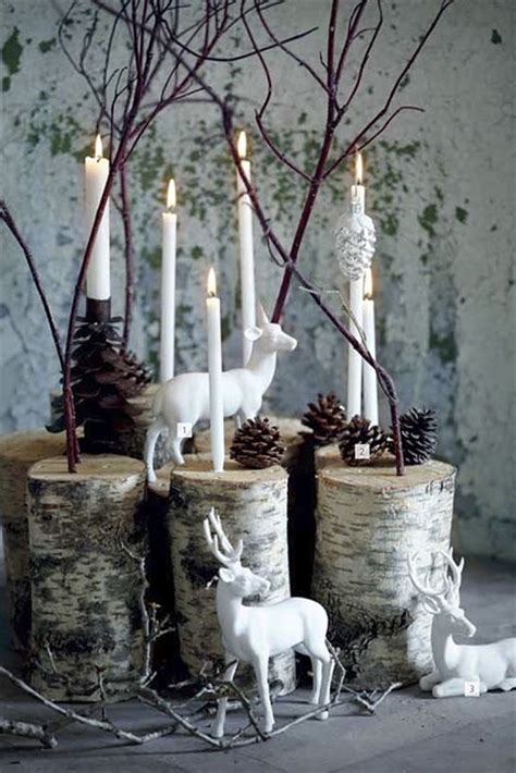 birch logs and branches christmas ideas pinterest