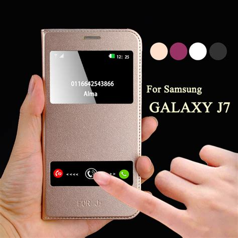 Flip Flip Cover Luxury Printing Samsung Galaxy J7 aliexpress buy luxury leather flip for samsung galaxy j7 j700h smart open window