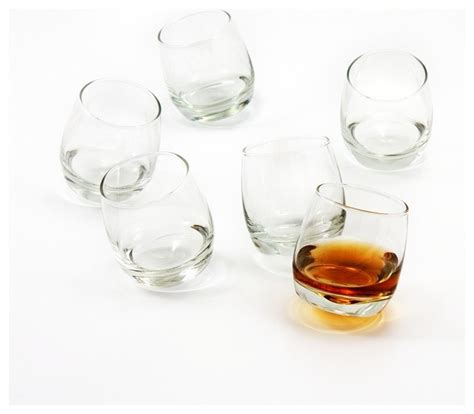 Modern Bar Glassware Bar Rocking Whiskey Glasses Contemporary Liquor