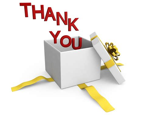 clipart per powerpoint 0914 thank you words coming out of gift box stock photo