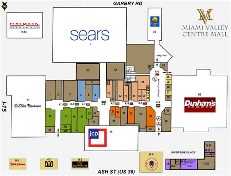 Eastgate Mall Floor Plan Stores Miami Valley Centre Mall