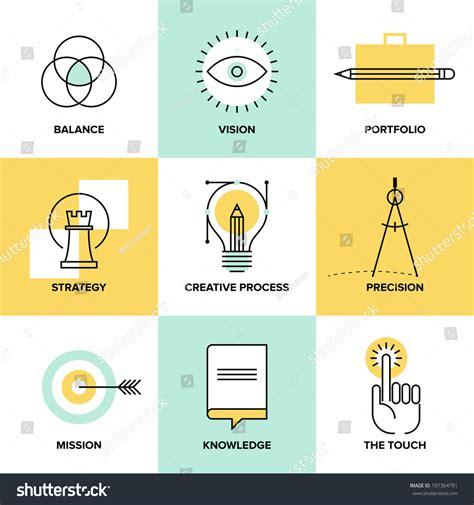 design concept elements creative design process concept web studio stock vector