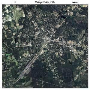 aerial photography map of waycross ga