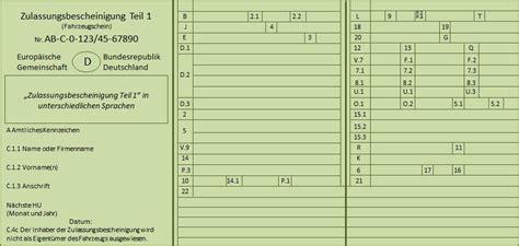 Motorrad Zulassung Teil 2 by Zulassungsbescheinigungen Teil 1 Und 2 Wo Liegen Die