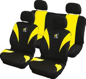 Car Seat Covers Yellow And Black Brand New Yellow Black Yellow Bee Car Seat Covers