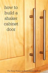 how to build kitchen cabinet doors remodelaholic how to make a shaker cabinet door