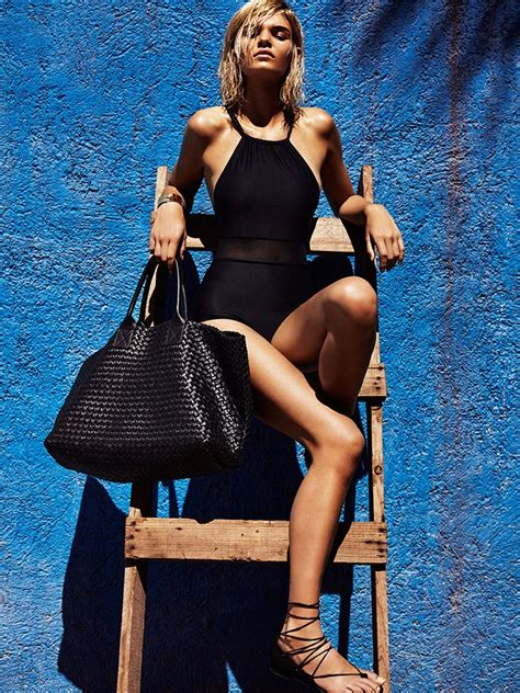 swimwear fashion gone rogue luisa hartema models black gold swim looks for telva