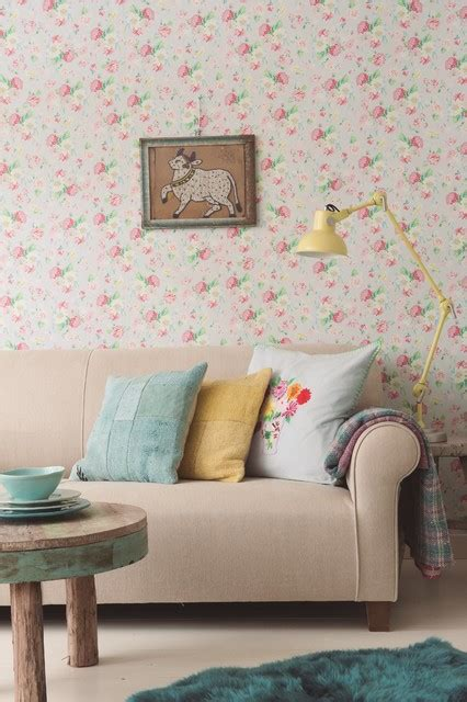 shabby chic wallpaper ideas living room wallpaper ideas shabby chic style living