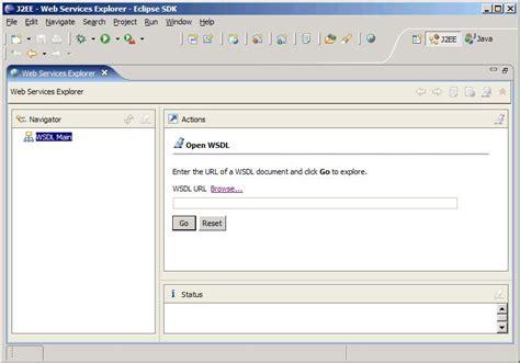using web service explorer to test a web service