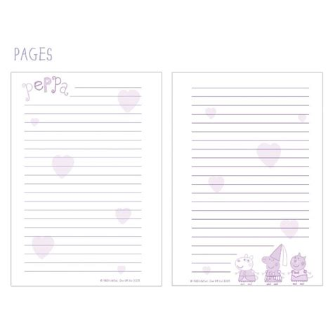 pig writing paper childrens peppa pig a5 scribble wiro pad paper