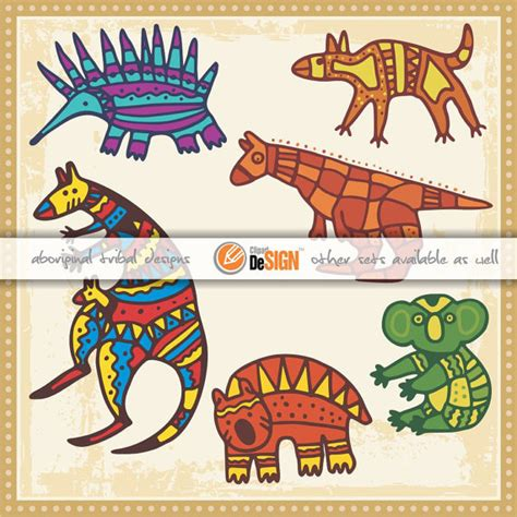 australian animal wall stickers aboriginal vector animals wall decals ornaments