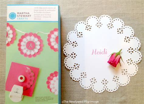 Martha Stewart Craft Paper - paper doily placemats place setting and invitation