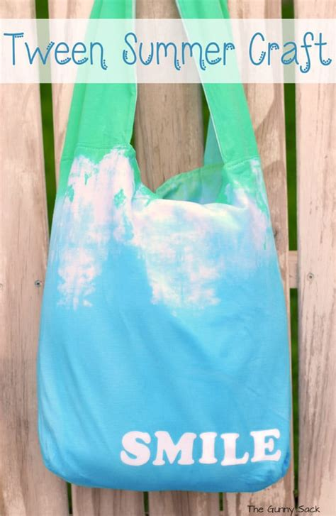 tween craft projects tie dye tote tween summer craft idea