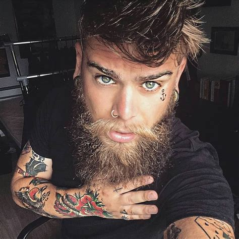 beard tattoo beards and tattoos instagram www pixshark images