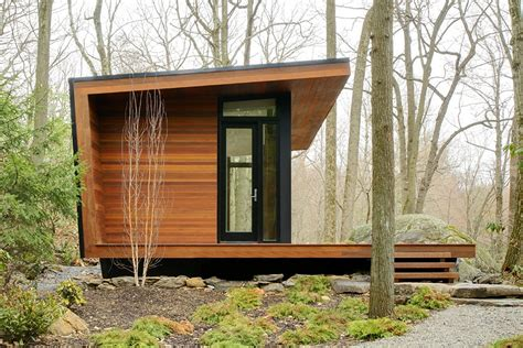 modern tiny houses gallery a modern studio retreat in the woods workshop
