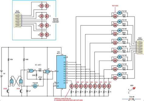 simple cat 5 network tester circuit schematic learn