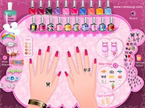 Dress up games moreover anna princess nail designs on cute nails