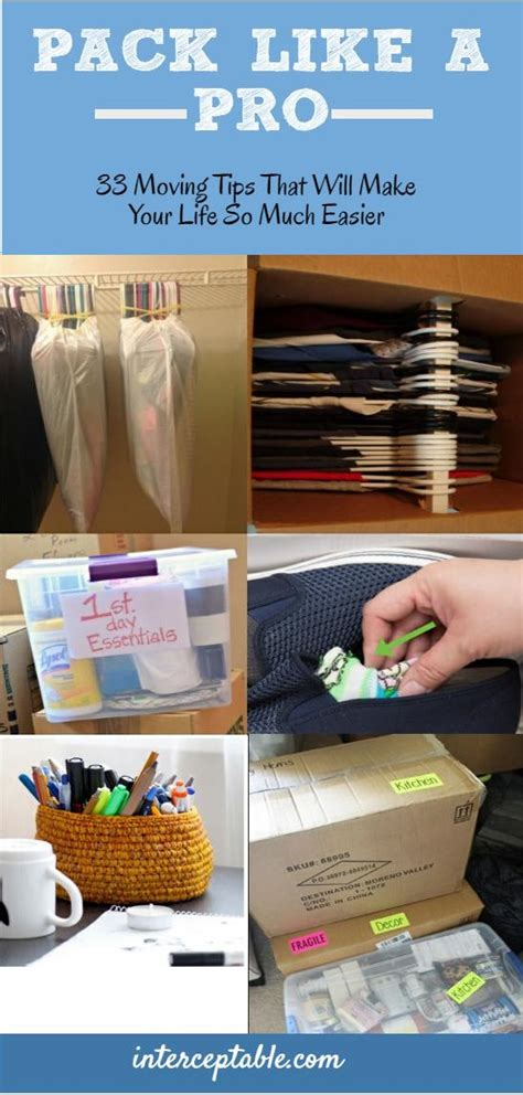 packing hacks for moving 33 moving tips that will make your life so much easier