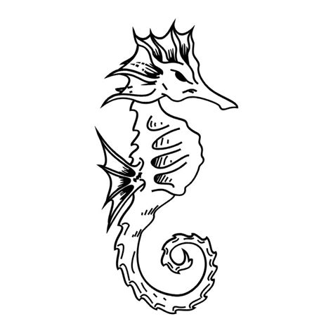 seahorse tattoo designs black seahorse tatto black white tribal