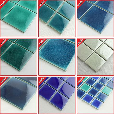 clearance mixed color blue and white ceramic mosaic tiles