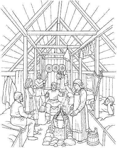 coloring pages longhouse cps6discoverscandinavia2016 licensed for non commercial
