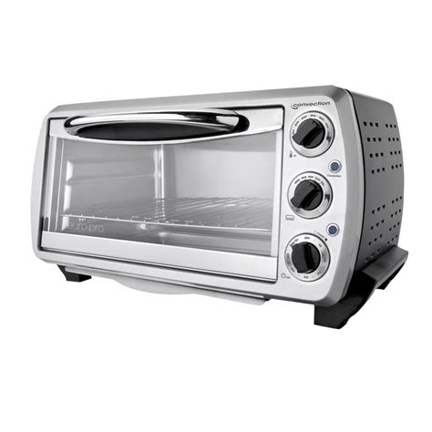 Silver Toaster Oven Shop Pro 6 Slice Silver Convection Toaster Oven With