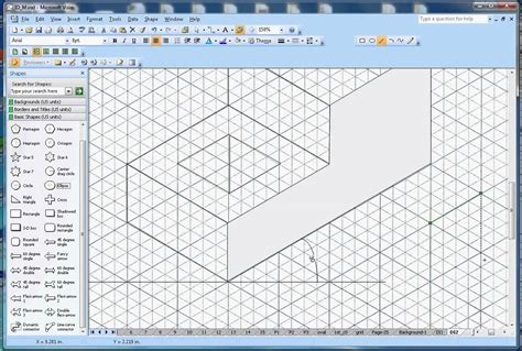 free drawing software like visio how to draw isometric shapes in microsoft visio
