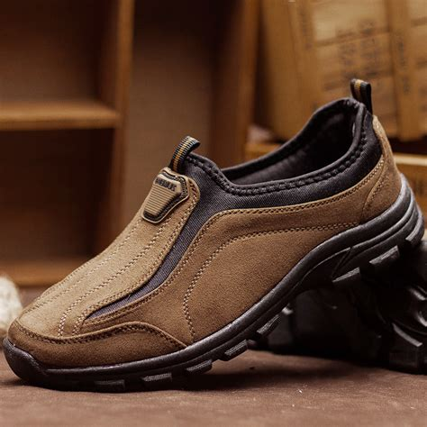 slip on leather outdoor sport shoes batlaya