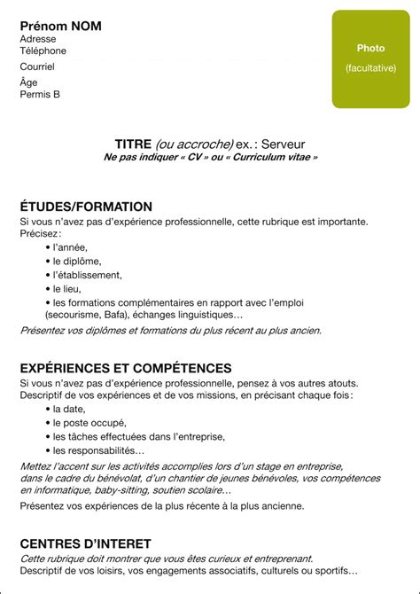Le Curriculum Vitae Cv Exemple by Article Le Cv Topo
