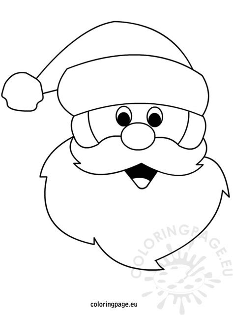 santa claus template free coloring pages of santa claus template