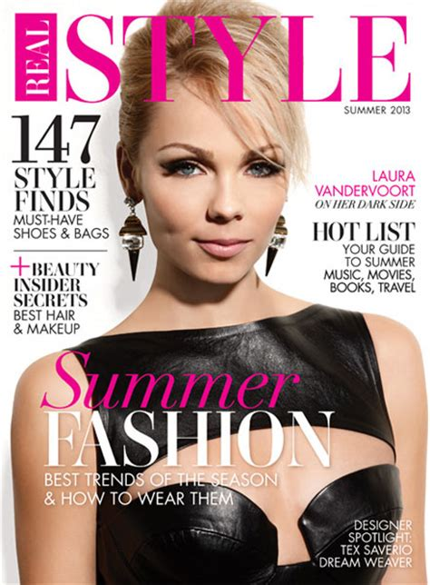 style magazine vandervoort covers real style magazine s summer 2013