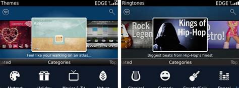 blackberry themes ringtones blackberry 7 theme and ringtone categories added to