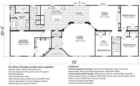 Tri Level Home Floor Plans Conover 30 X 76 2260 Sqft Mobile Home Factory Expo Home