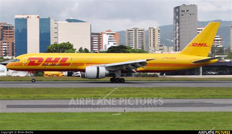 n2110dae dhl cargo boeing 757 200 at guatemala la photo id 938859 airplane