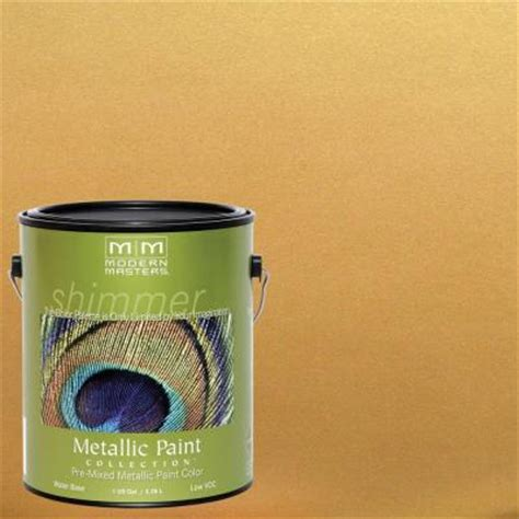 modern masters 1 gal iridescent gold metallic interior exterior paint me194gal the home depot