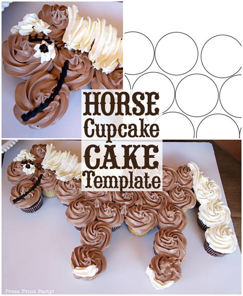 pony cake template 800px