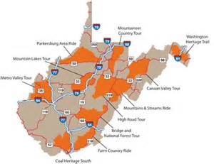 Virginia Tourism Map by West Virginia Department Of Commerce Motorcycles