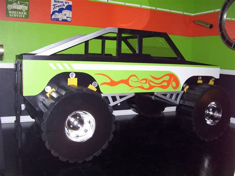 fantasy themed monster truck twin size bed