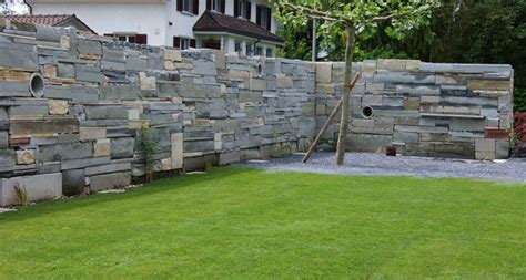 garten steinmauer modern gartens max