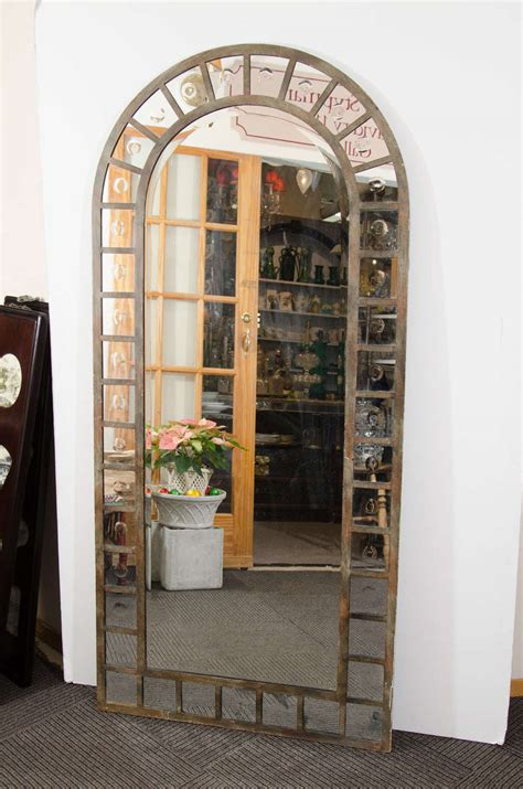 carbohydrates used in silvering of mirror industrial style steel arched mirror for sale at 1stdibs