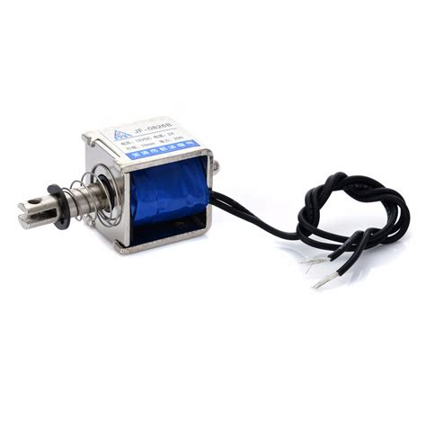 Jf 0826b Dc12v 2a 20n 10mm Pull Push Type Solenoid Electromagnet jf 0826b 12v 2a reset 10mm push pull type open frame solenoid electromagnet 20n ebay