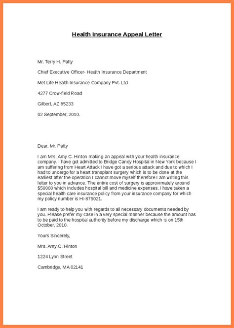 Insurance Business Letter Templates Health Insurance Appeal Letter Sle The Best Letter Sle