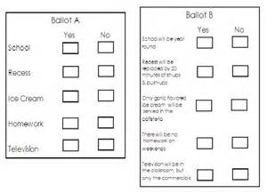 ballot word template adventures in third grade election time