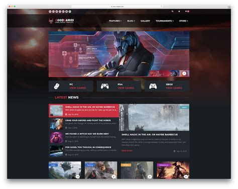 22 Best Gaming Html Website Templates 2018 Colorlib Gaming Website Template